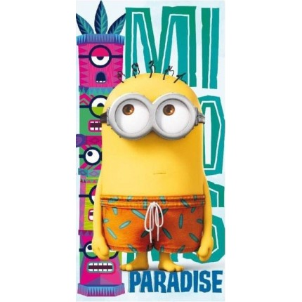 Toalla Playa Minions Paradise