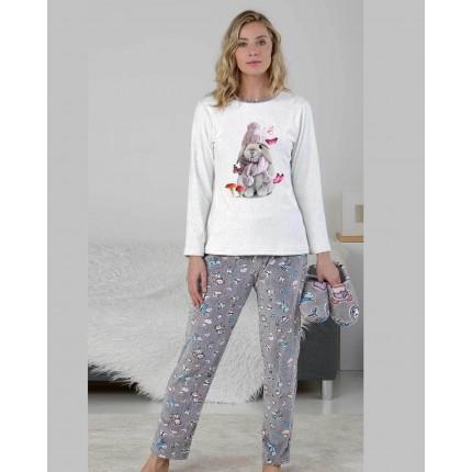 Pijama Mujer Gris P711208...