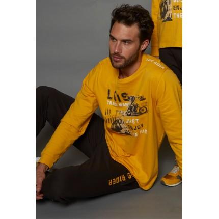 Pijama Hombre Amarillo 55372 Lois