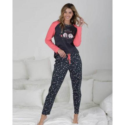 Pijama Mujer Gris Oscuro P711204 Massana