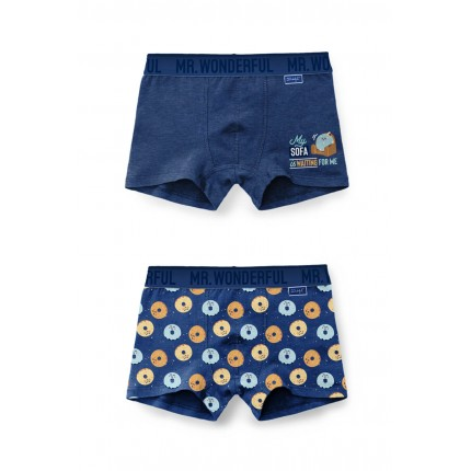 Pack 2 Boxers 48315 Azul Mr...