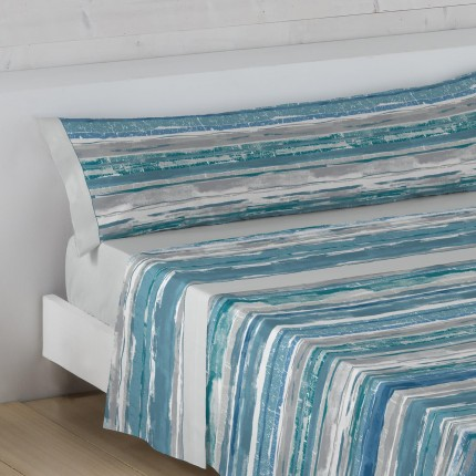Juego de cama Cooper Azul Stilia