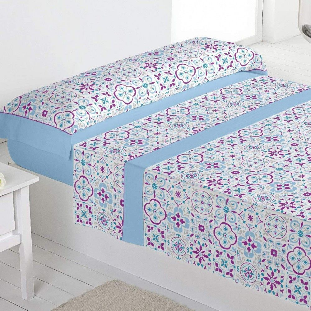 Barceló Hogar 03050630200 Juego sábanas, poliéster/algodón, modelo Toscana, 90 cm