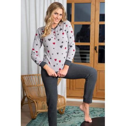 Pijama corazones Muslher
