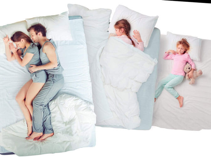 colchones, somieres y almohadas